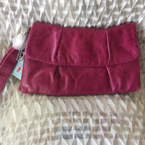 Hobo International Wren Leather Wristlet Clutch